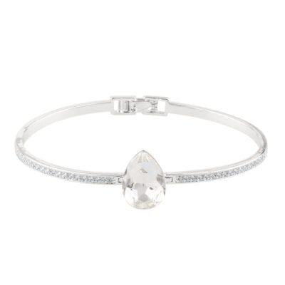Snö of Sweden – Birgit pendant halsband Silver/kristall