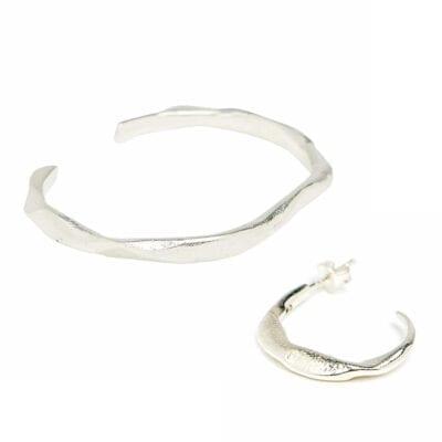 Cornelia Webb – Molded Organic Cuff Set, silver
