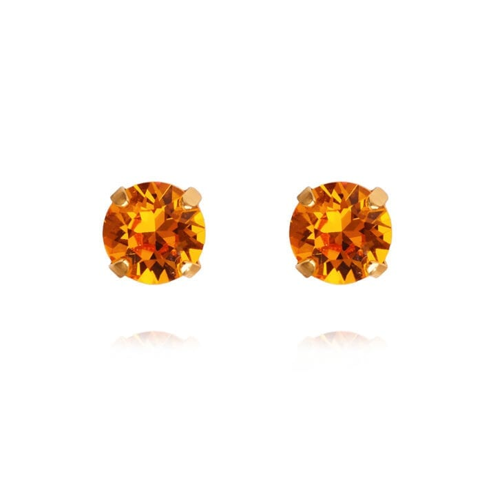 Classic_Stud_Earrings_Tangerine