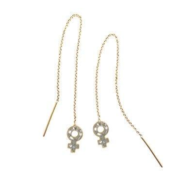 Baumgarten Di Marco – Woman's chain örhängen, silver
