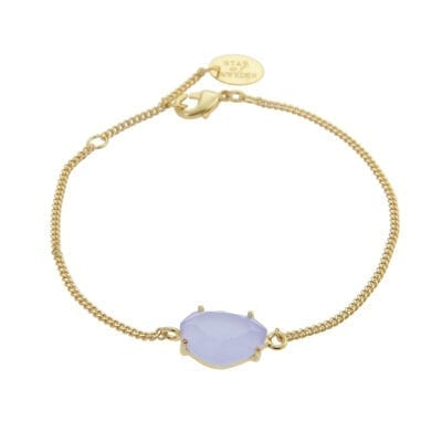 Star of Sweden – Carry Yourself – Classic armband, Light Sapphire/guld