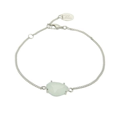 Star of Sweden – Carry Yourself –Classic armband, Milky Aqua/silver