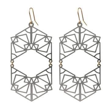 Maria Sköldin – Double Symmetric Örhängen, stål