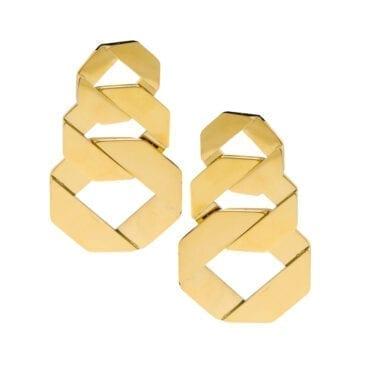 Ingnell Jewellery – Bonnie örhängen, guld