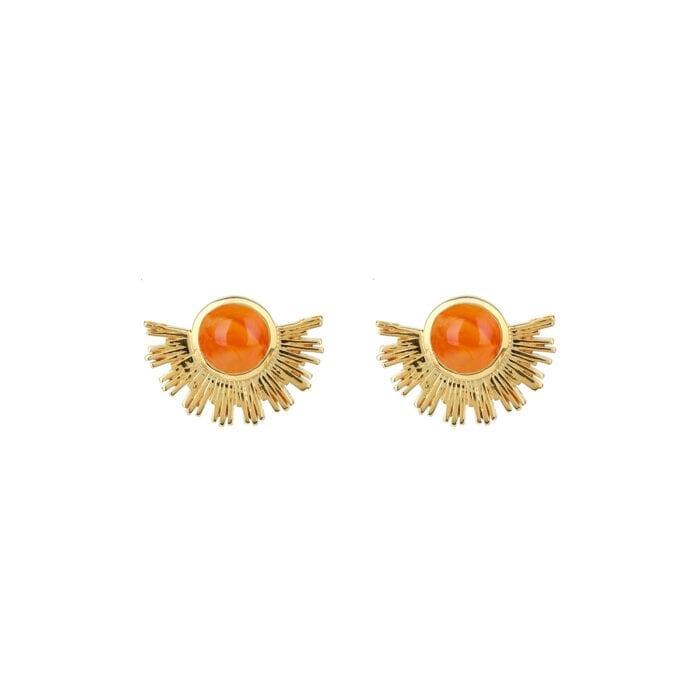 EG1144CA-1-Sunburst-earrings-gold-carnelian