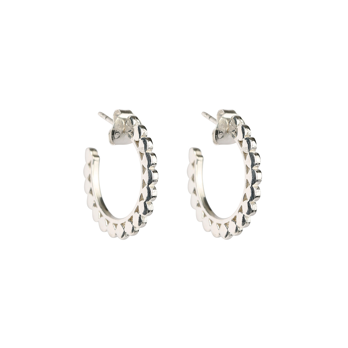 ES1136-1-Beaches-small-flat-dots-earrings-silver