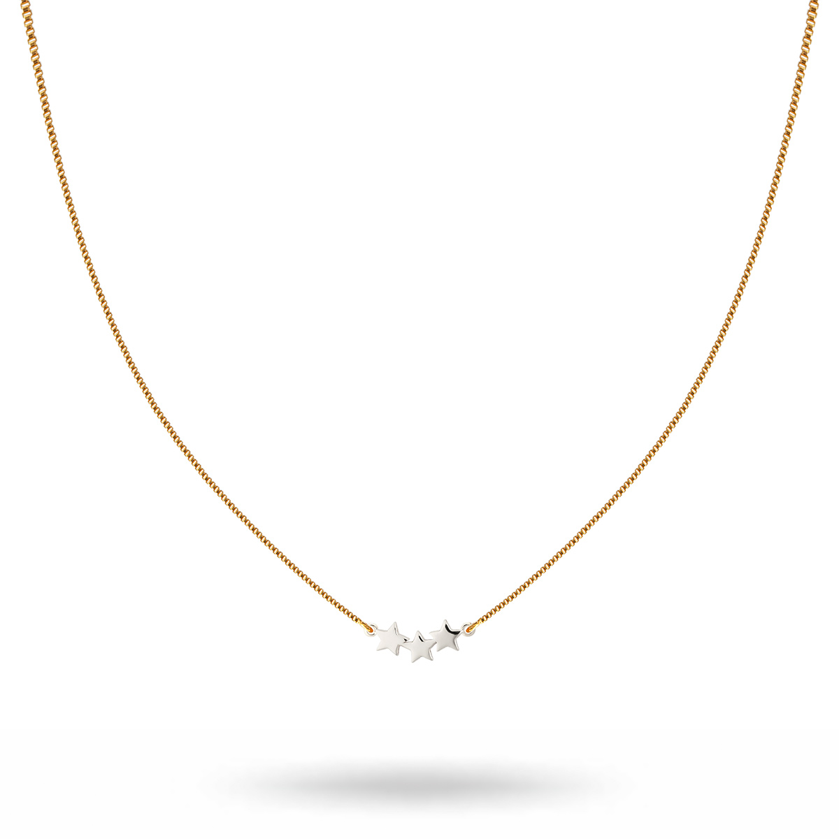 NG1250-1-Snap-necklace-triple-star-plain-gold