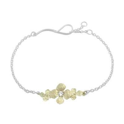 Lotta Jewellery – Hydrangea trio Armband, silver