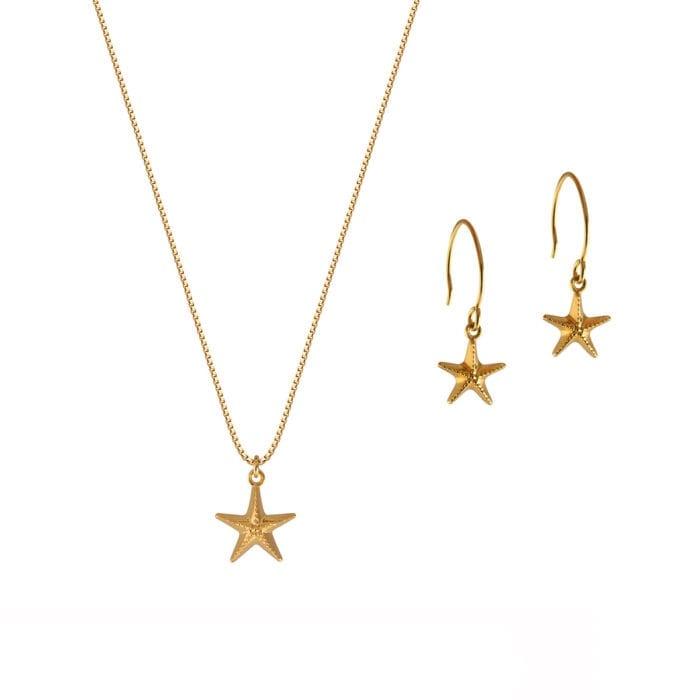 Beaches-Starfish-set-gold