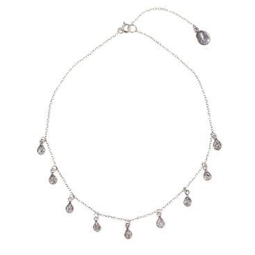 Yvone Christa – Silver Drops halsband, silver