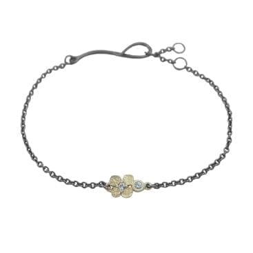 Lotta Jewellery – Big Hydrangea Långt Halsband, brons