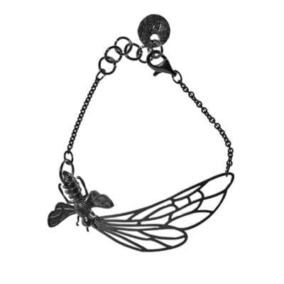 Pendulum –Flying Bee armband, silver