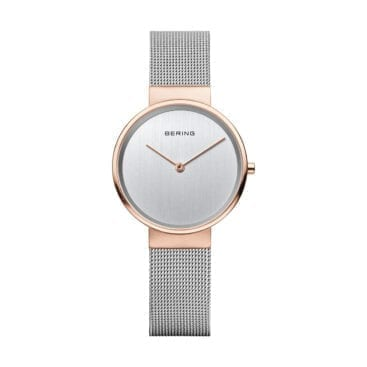 Bering – Classic Klocka, Polished Silver Rose