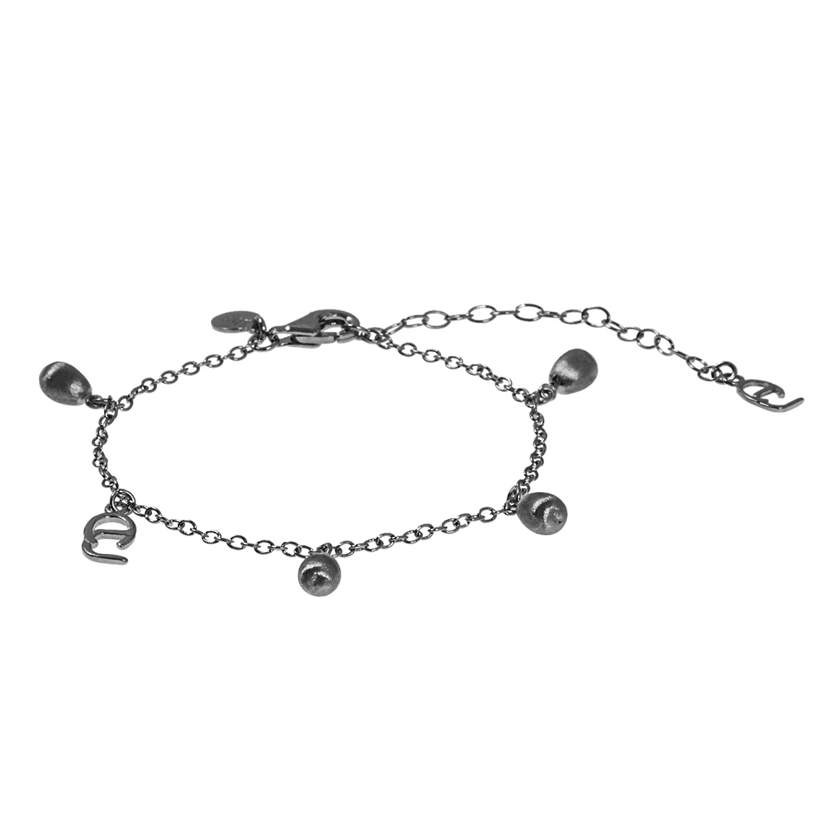 CU Jewellery – Drop Charm armband, svart