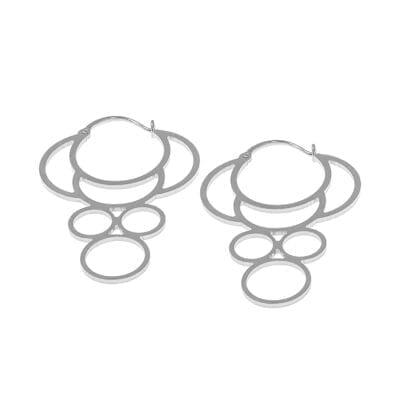 CU Jewellery – Sun örhängen, silver