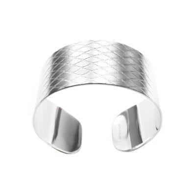 Ebon Li – Net Cuff Armband, silver