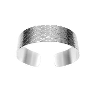Ebon Li – Net Small Cuff Armband, silver