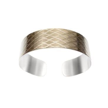 Ebon Li – Net Small Cuff Armband,  guld
