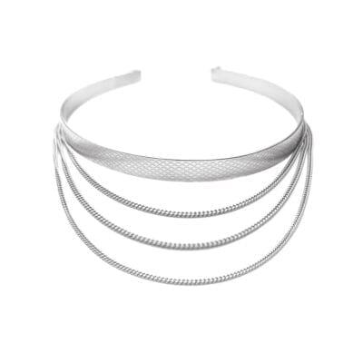 Ebon Li – Wire chain choker, silver