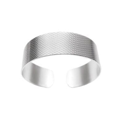 Ebon Li – Wire Small Cuff Armband, silver
