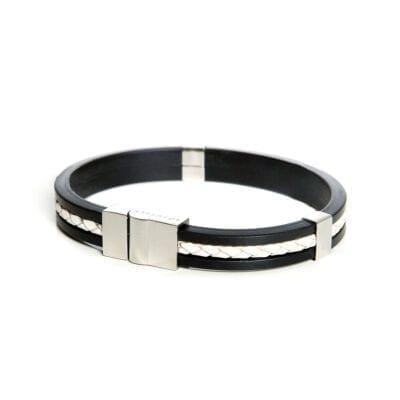 So Sweden - Herrarmband, vit/svart