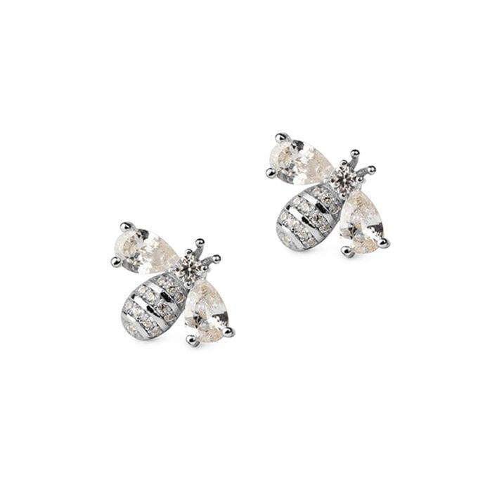 bee-earrings-silver