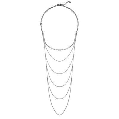 CU Jewellery – Draped halsband, silver