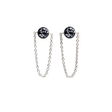 Baumgarten Di Marco – Raw Cut Diamond Loop örhängen, silver