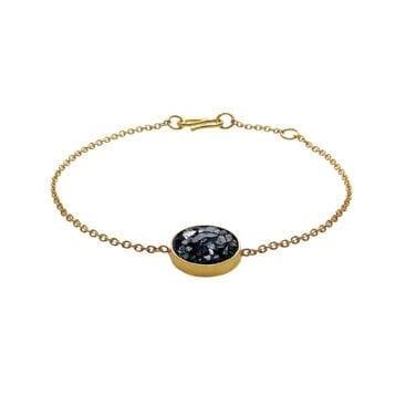 Baumgarten Di Marco – Raw Cut Diamond Circle armband, guld