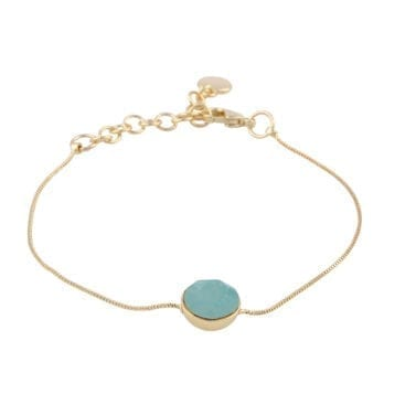 Snö of Sweden – Liw stone halsband, silver/vit