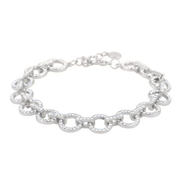 Snö of Sweden – Clarissa armband, silver/kristall