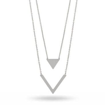Snö of Sweden – Isabella halsband, silver/vit
