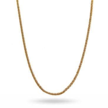 CU Jewellery – Roof big plain halsband, guld