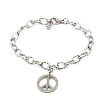 Seven/East – Small Peace Armband, Stål