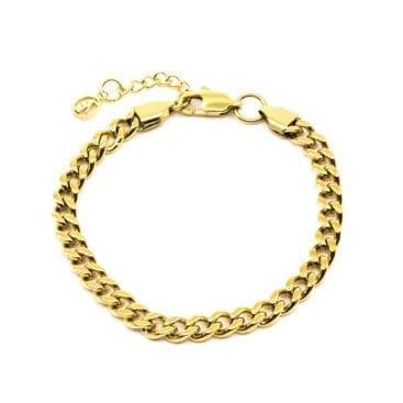 Seven/East – Flat Chain Armband, Guld