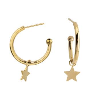 By Jolima – Moon armband, guld/mocca