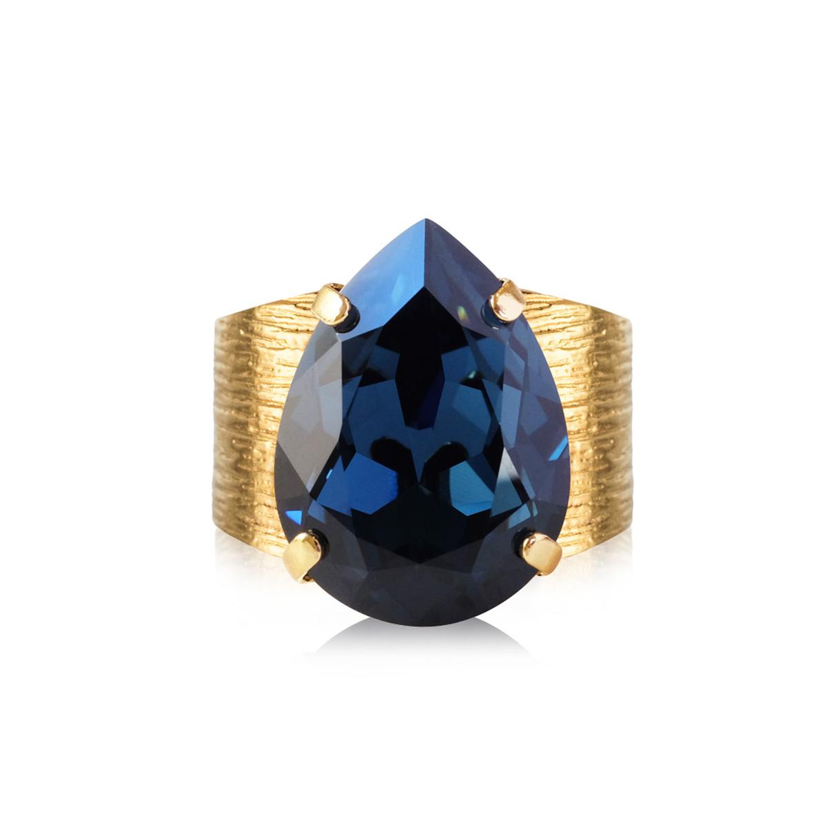 Caroline Svedbom – Classic Drop Ring, Montana/guld