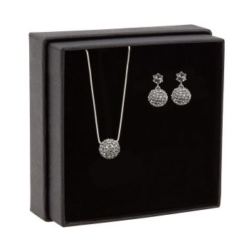Snö of Sweden – Fair pendant set, silver/grey