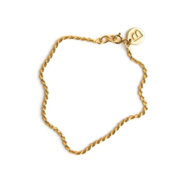 Blue Billie –Rope Armband, guld
