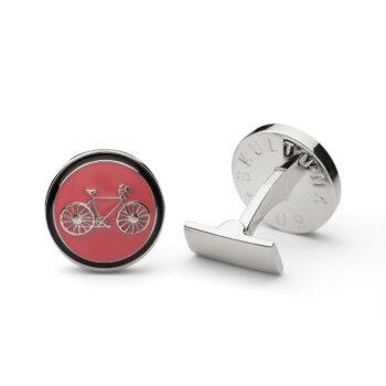 Skultuna – Manschettknappar Themocracy Silver, rosa