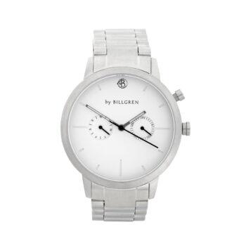 By Billgren – Malcom white steel, klocka - Armband på köpet