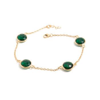 Åsa Maria – Noomie Halsband, guld/kristall