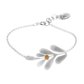 Pendulum –Leaf halsband, silver