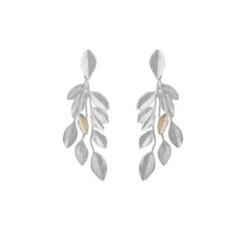 Lotta Jewellery – Olive Branch Örhängen, silver