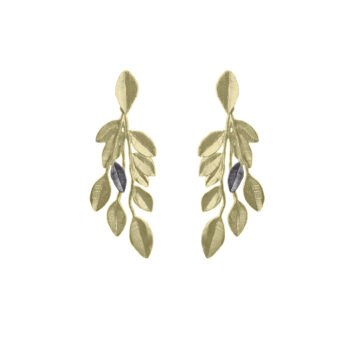 Lotta Jewellery – Olive Branch Örhängen, brons/guld