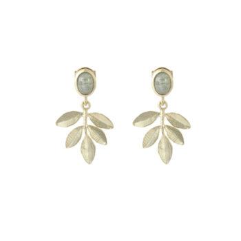 Lotta Jewellery – Olive Twig Örhängen, brons/guld