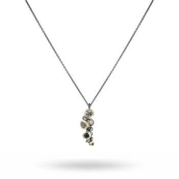 Lotta Jewellery – Cluster Halsband, silver
