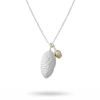 Lotta Jewellery – Pine Cone Halsband, silver