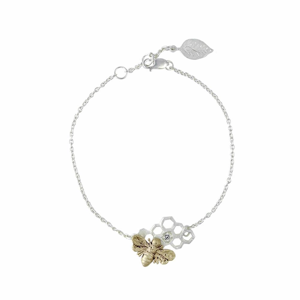 bee-silver-bracelet