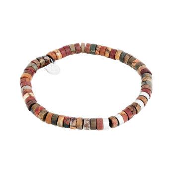 By Billgren –Armband, brun/röd